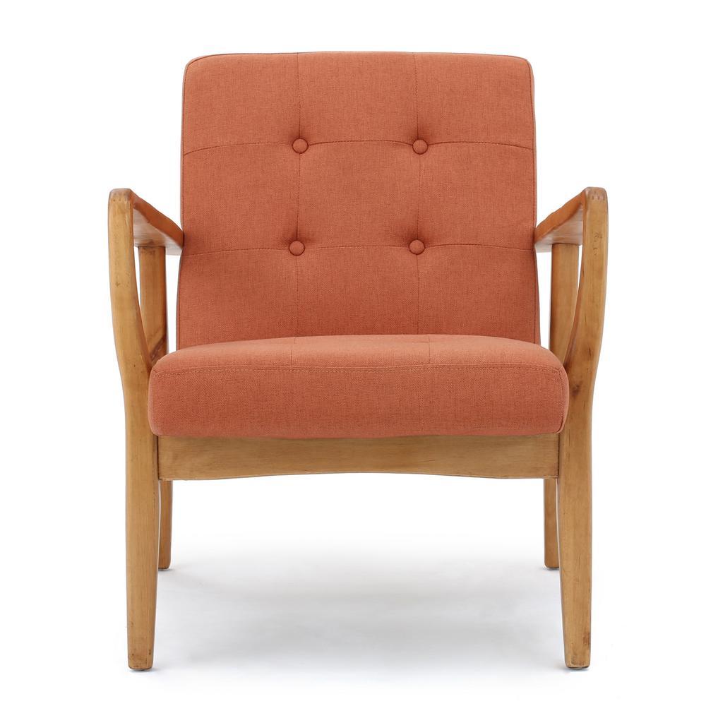 Peachy Club Chair Orange Mid Century Modern Accent Chairs Machost Co Dining Chair Design Ideas Machostcouk