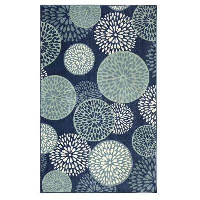 Foliage Friends Blue 5 ft. x 8 ft. Area Rug