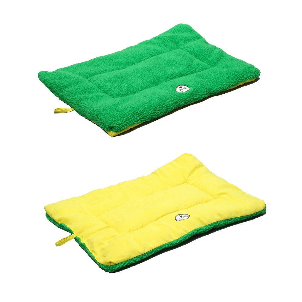 Pet Life Eco Paw Medium Yellow And Green Reversible Pet
