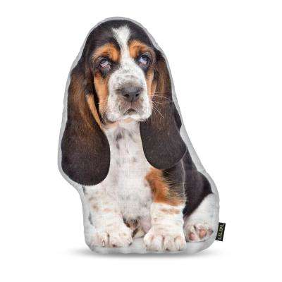 Basset Hound Shaped Accent Decorative Pillow
