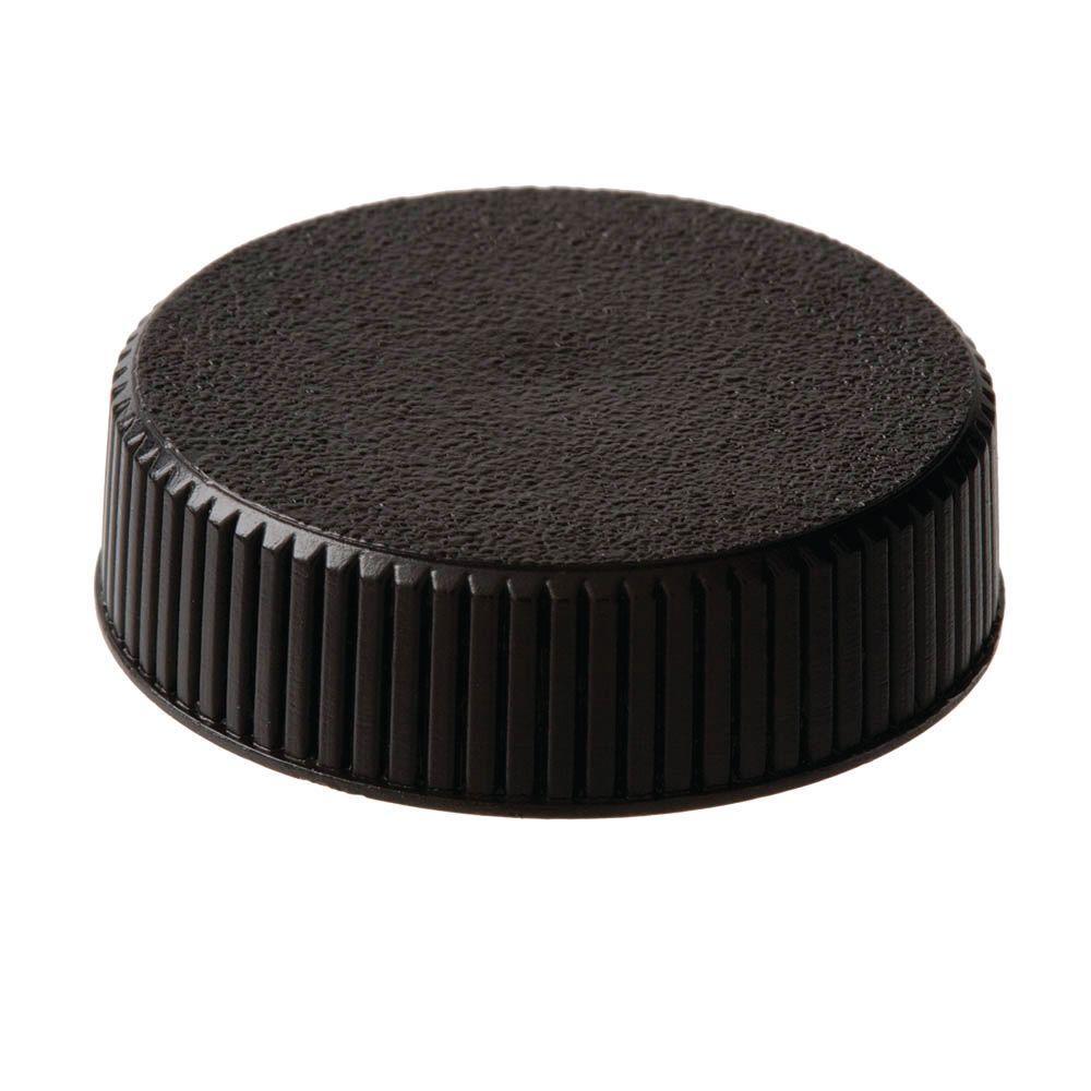 5/16 in. Black Round Plastic Knob