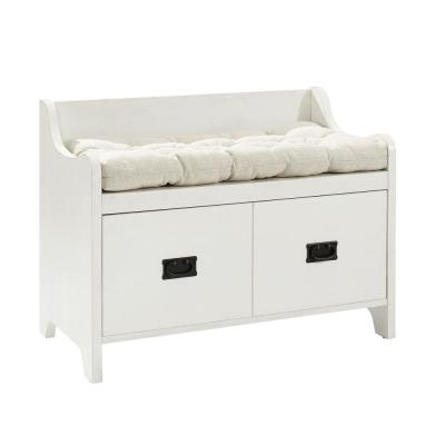 Fremont White Entryway Bench