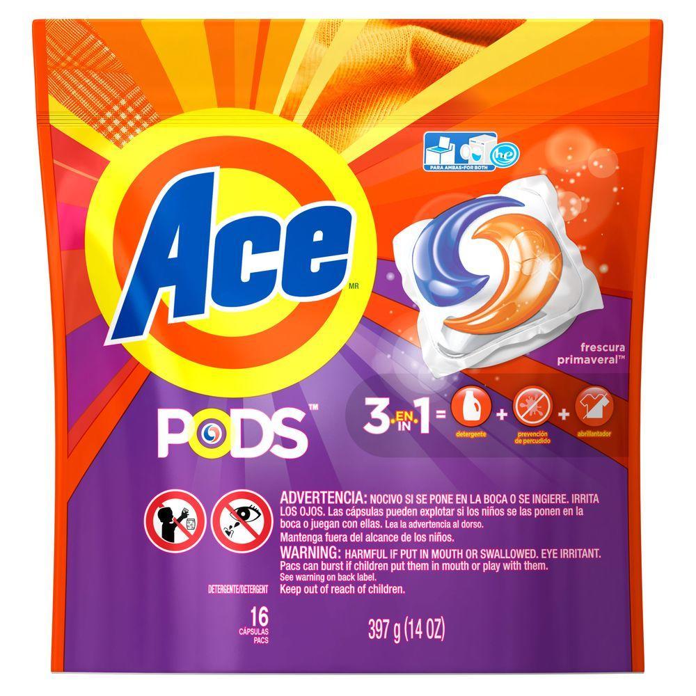 Ace 14 Oz Spring Freshness Scent Unit Dose Laundry Detergent 16 Count