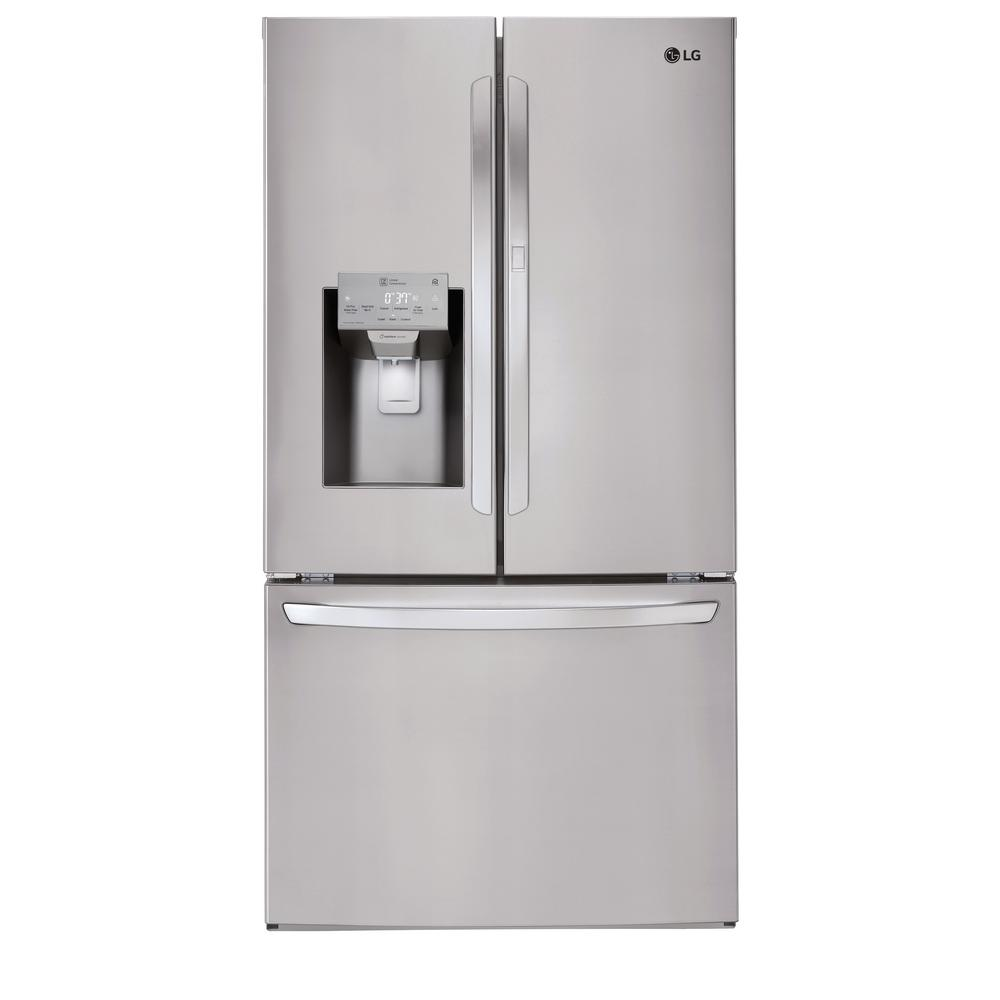 LG Electronics 27.7 cu. ft. French Door Smart Refrigerator with Door-in-Door and Wi-Fi Enabled in Stainless Steel
