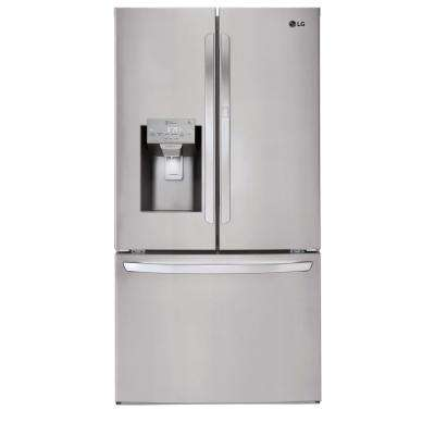 27.7 cu. ft. French Door Smart Refrigerator with Door-in-Door and Wi-Fi Enabled in Stainless Steel