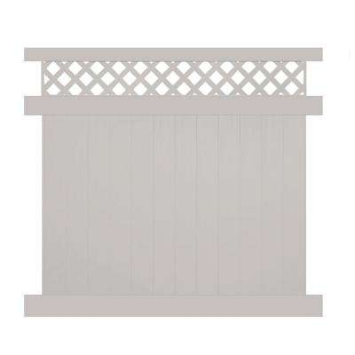 Ashton 7 ft. H x 8 ft. W Tan Vinyl Privacy Fence Panel Kit