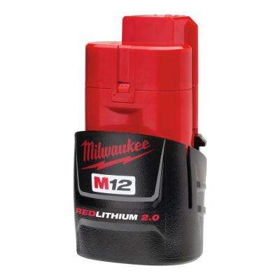 M12 12-Volt Lithium-Ion Compact Battery Pack 2.0Ah