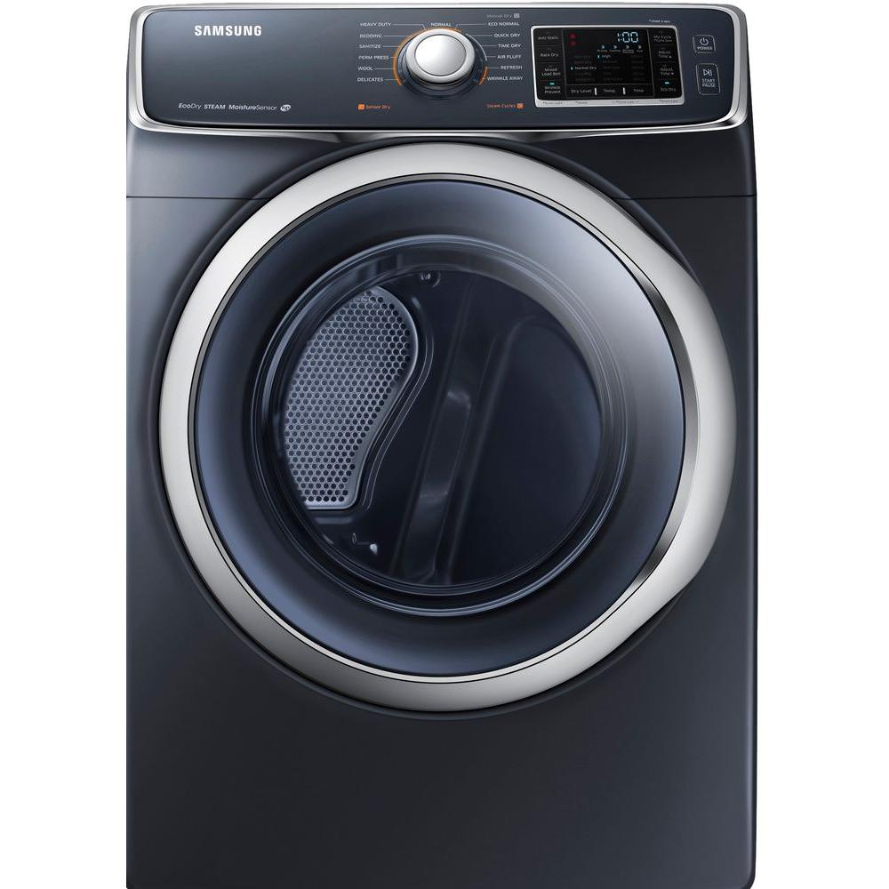 Samsung 7.5 cu. ft. Electric Dryer with Steam in Onyx