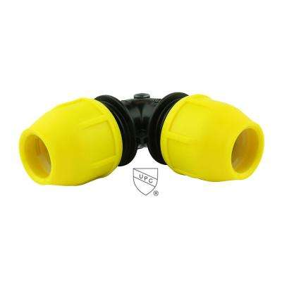 2 in. Underground Yellow Poly Gas Pipe 90-Degree Elbow