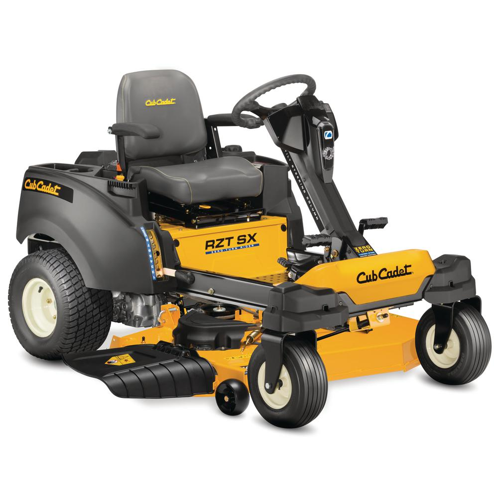 Cub Cadet Rzt Sx 46 In Fabricated Deck 23 Hp Kohler V Twin Dual Hydro Zero Turn Mower With Steering Wheel Control