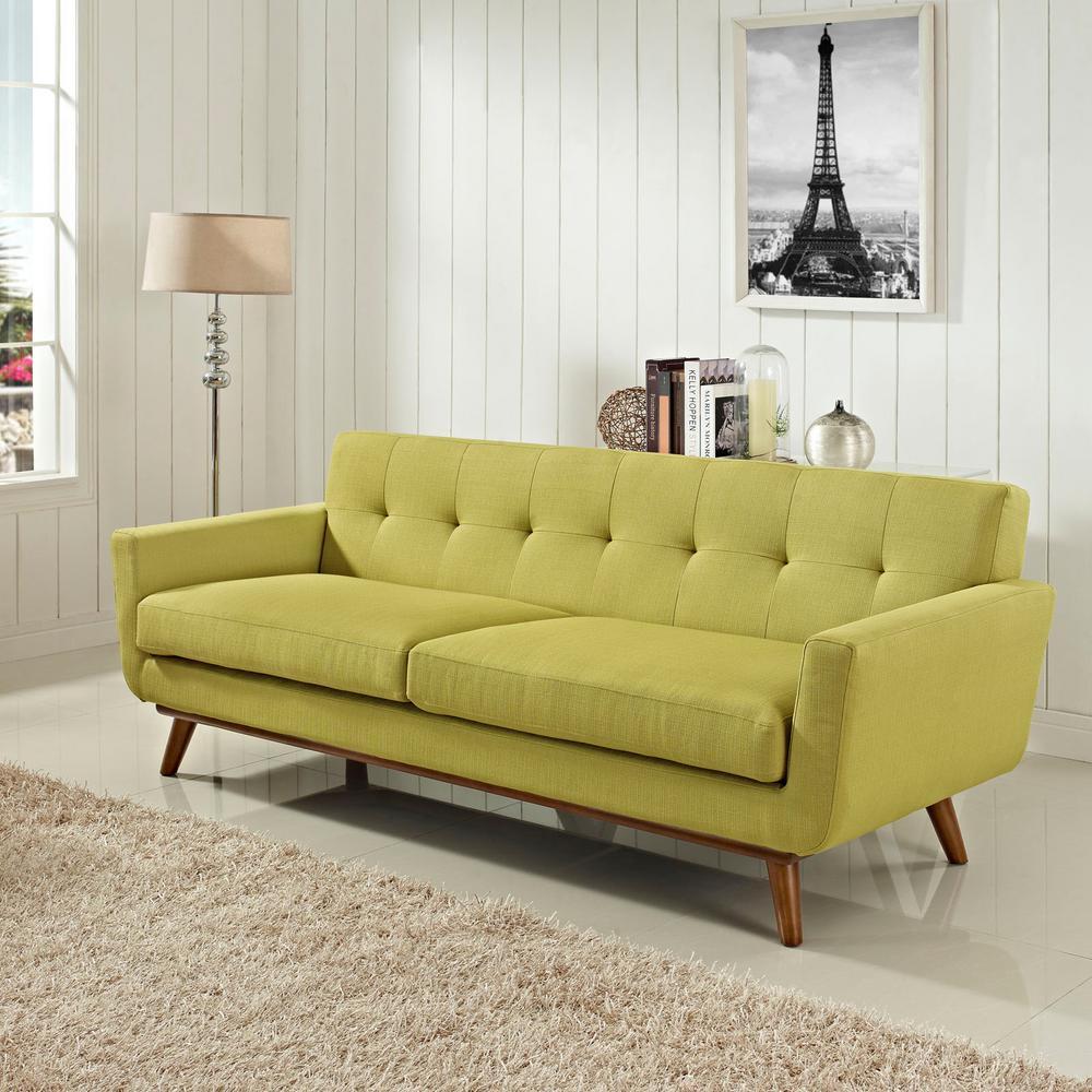 Engage Wheatgrass Upholstered Fabric Sofa
