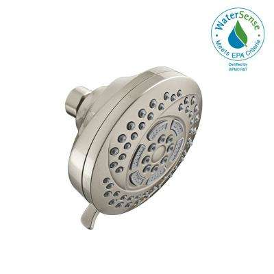 Hydrofocus 6-Spray 4.5 in. Raincan Showerhead in Brushed Nickel