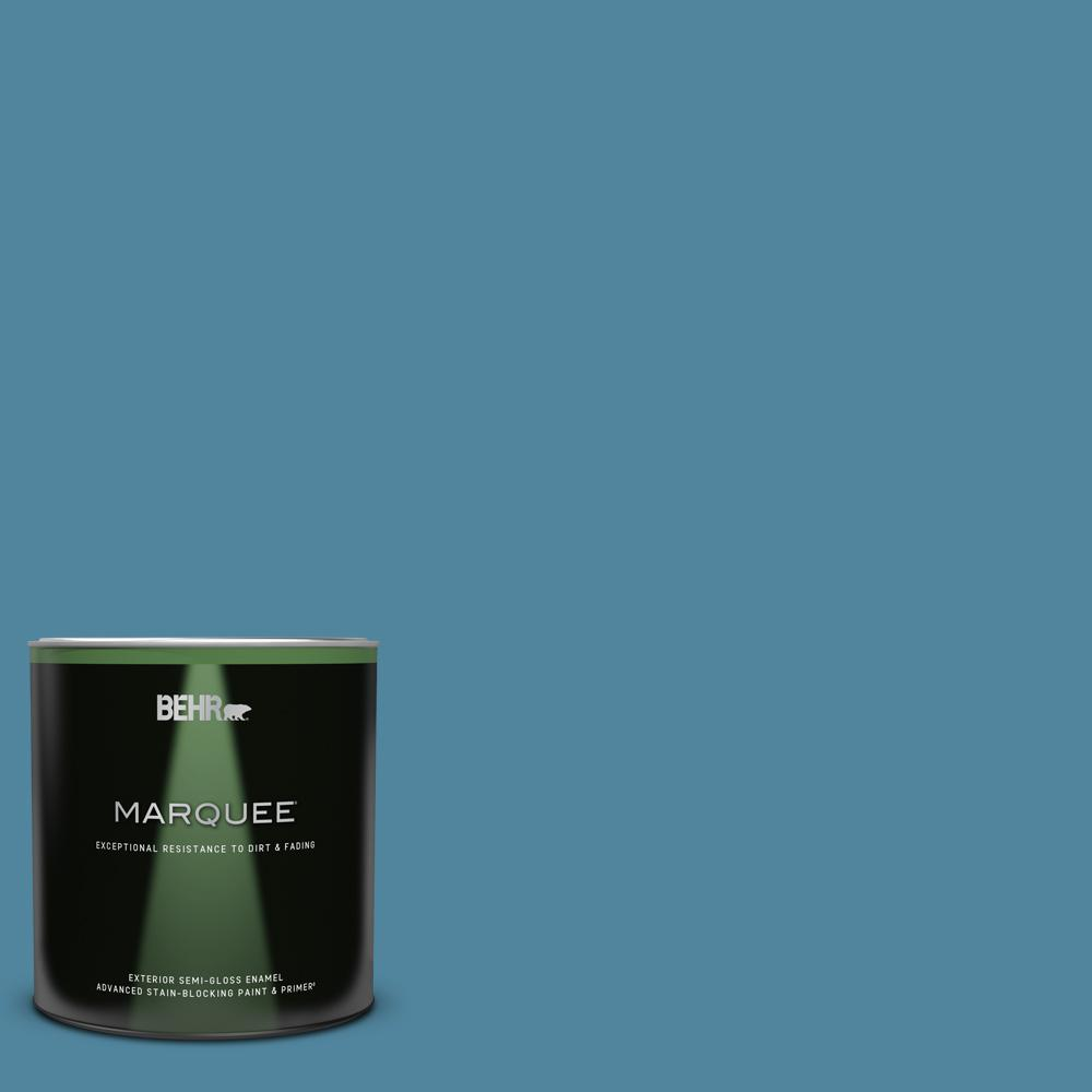 Behr Marquee 1 Qt S490 5 Jay Bird Semi Gloss Enamel Exterior Paint Primer 545404 The Home Depot