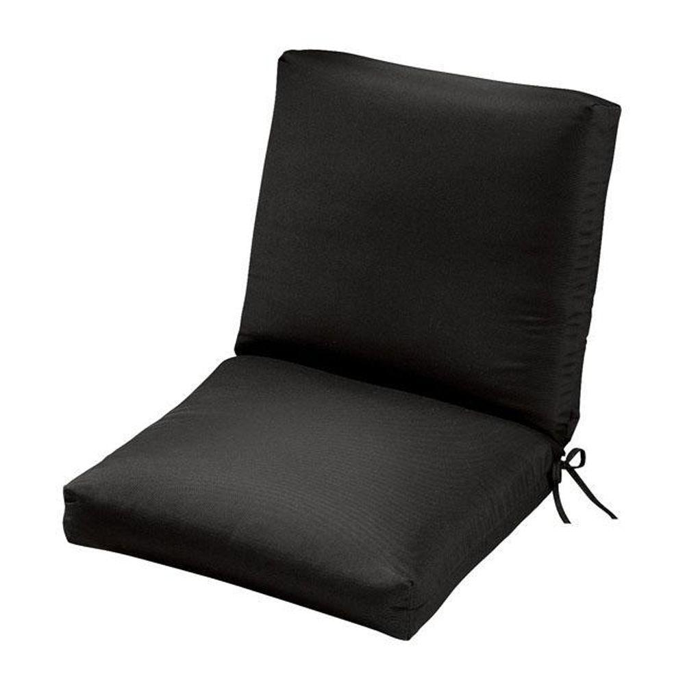 Home Decorators Collection Sunbrella Black Outdoor Dining Chair Cushion
