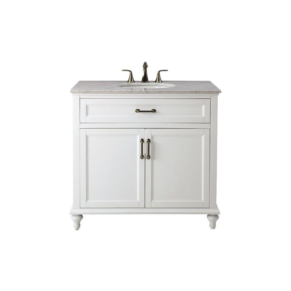 Home Decorators Collection Charleston 37 In W X 22 In D Bath Vanity In White With Natural
