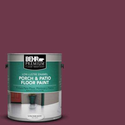 1 gal. #PPU1-14 Formal Maroon Low-Lustre Porch and Patio Floor Paint