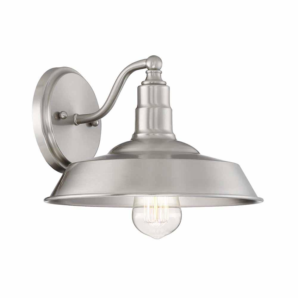 Cordelia Lighting 1 Light Brushed Nickel Wall Sconce