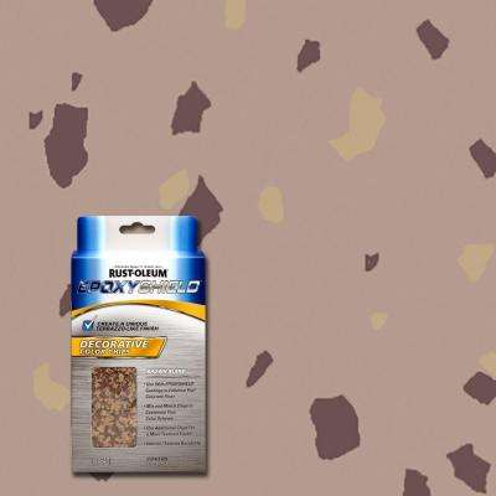 1 lb. Brown Blend Decorative Color Chips (Case of 6)