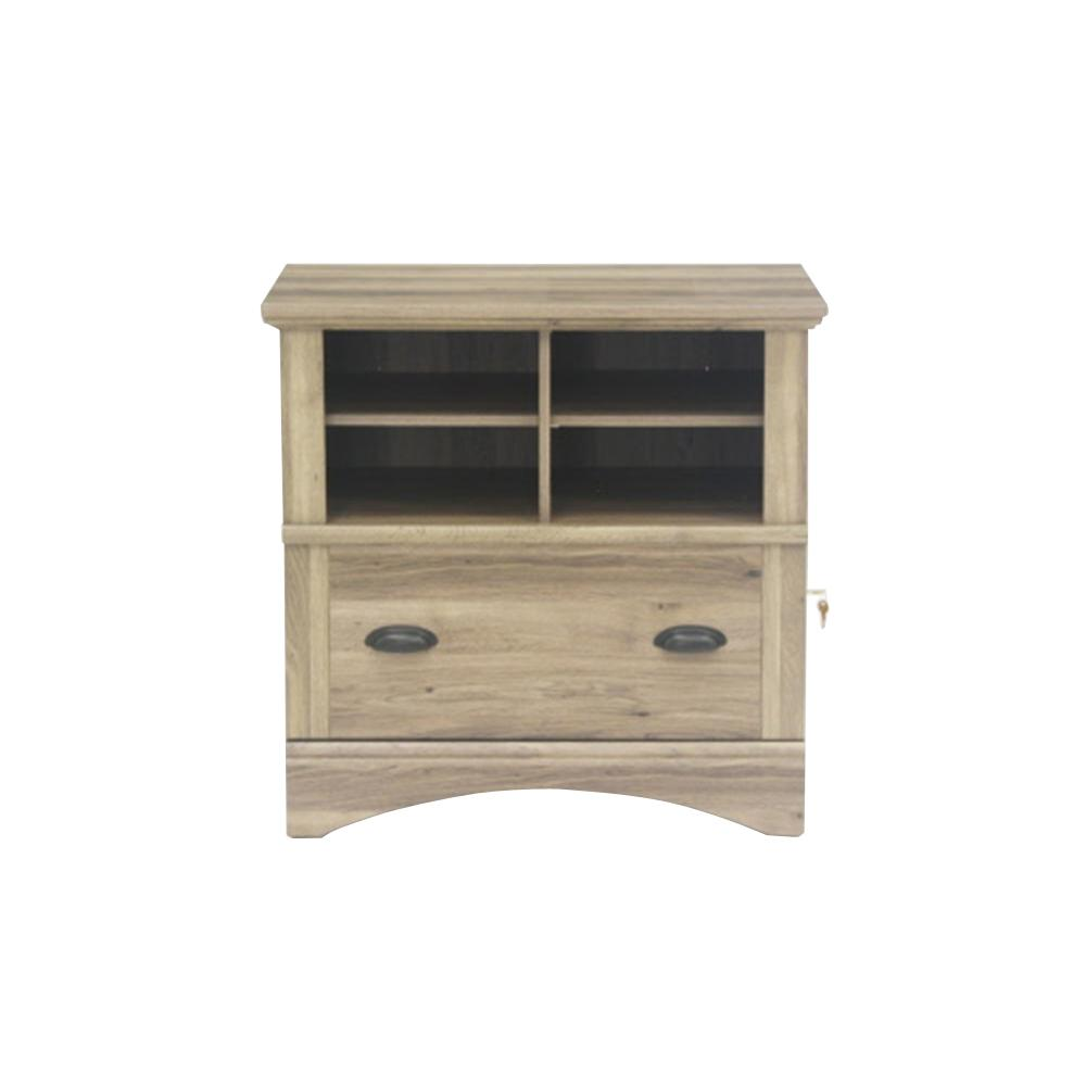 Etonnant SAUDER Harbor View Salt Oak Lateral File Cabinet With 1 Drawer