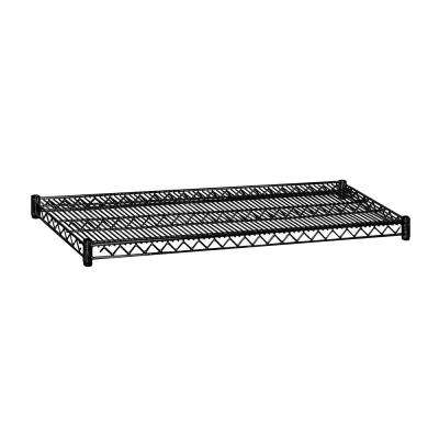 48 in. W x 2 in. H x 18 in. D Shelf Wire Black Finish Commercial Shelving Unit