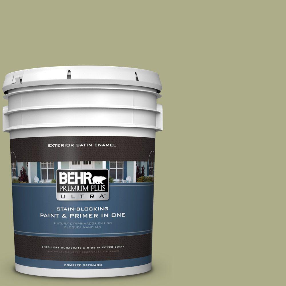 BEHR Premium Plus Ultra 5-gal. #PPU9-21 Sanctuary Satin Enamel Exterior Paint
