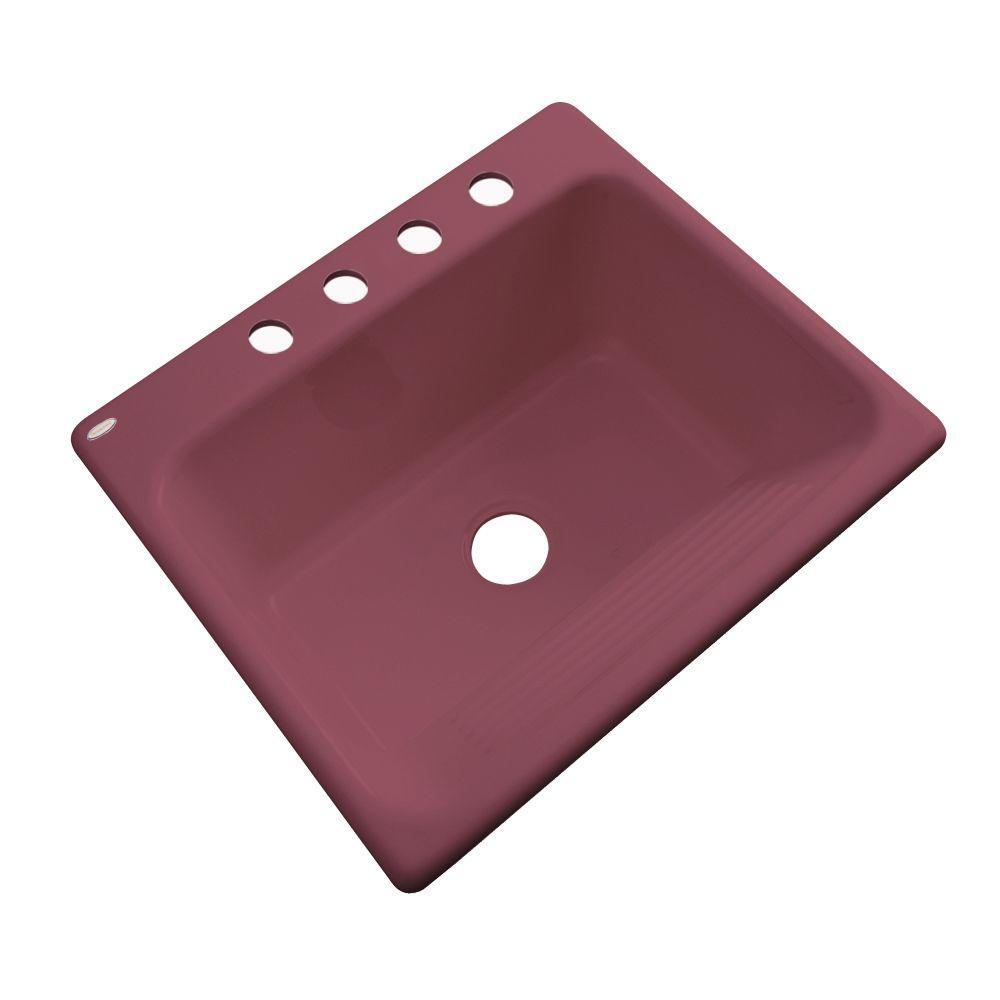 Kensington Drop-In Acrylic 25 in. 4-Hole Single Bowl Utility Sink in