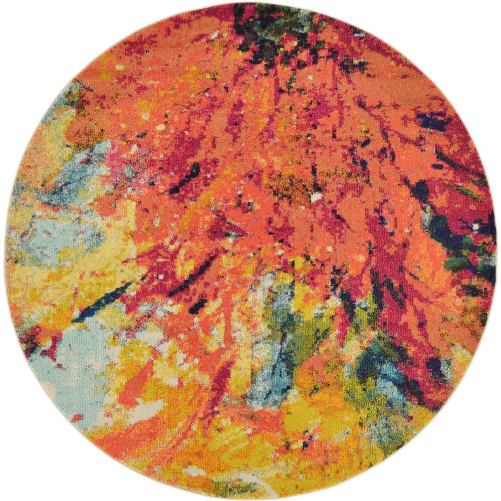 Estrella Palau Multi 6' 0 x 6' 0 Round Rug