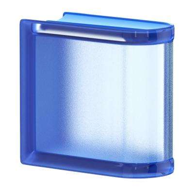 Blueberry 5.75 in. x 5.75 in. x 3.15 in. Classic Blue End Linear Glass Block