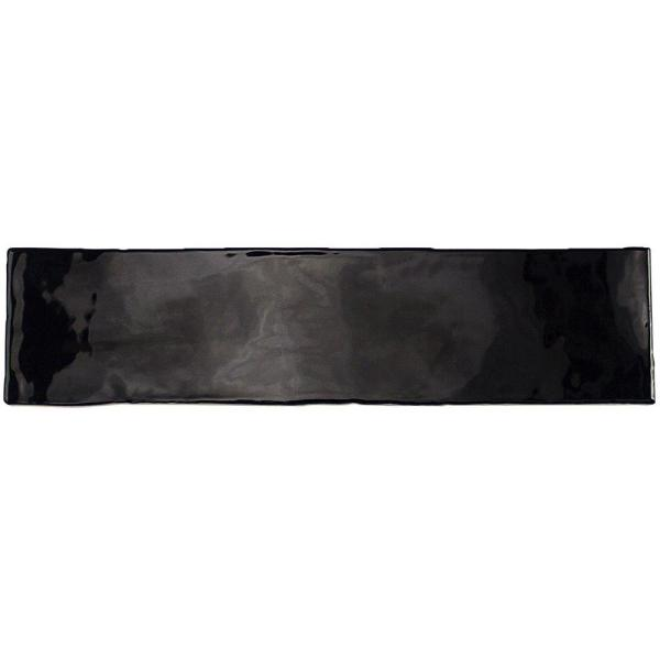 Catalina Black 3 in. x 12 in. x 8 mm Ceramic Wall Subway Tile (44-Pieces 10.76 sq.ft./case)