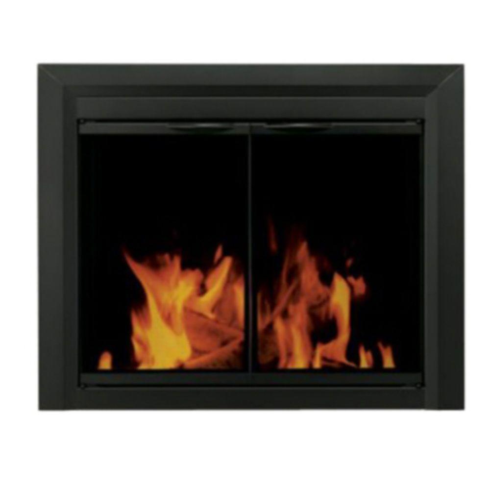 Pleasant Hearth Dexter Medium Glass Fireplace Door-DISCONTINUED