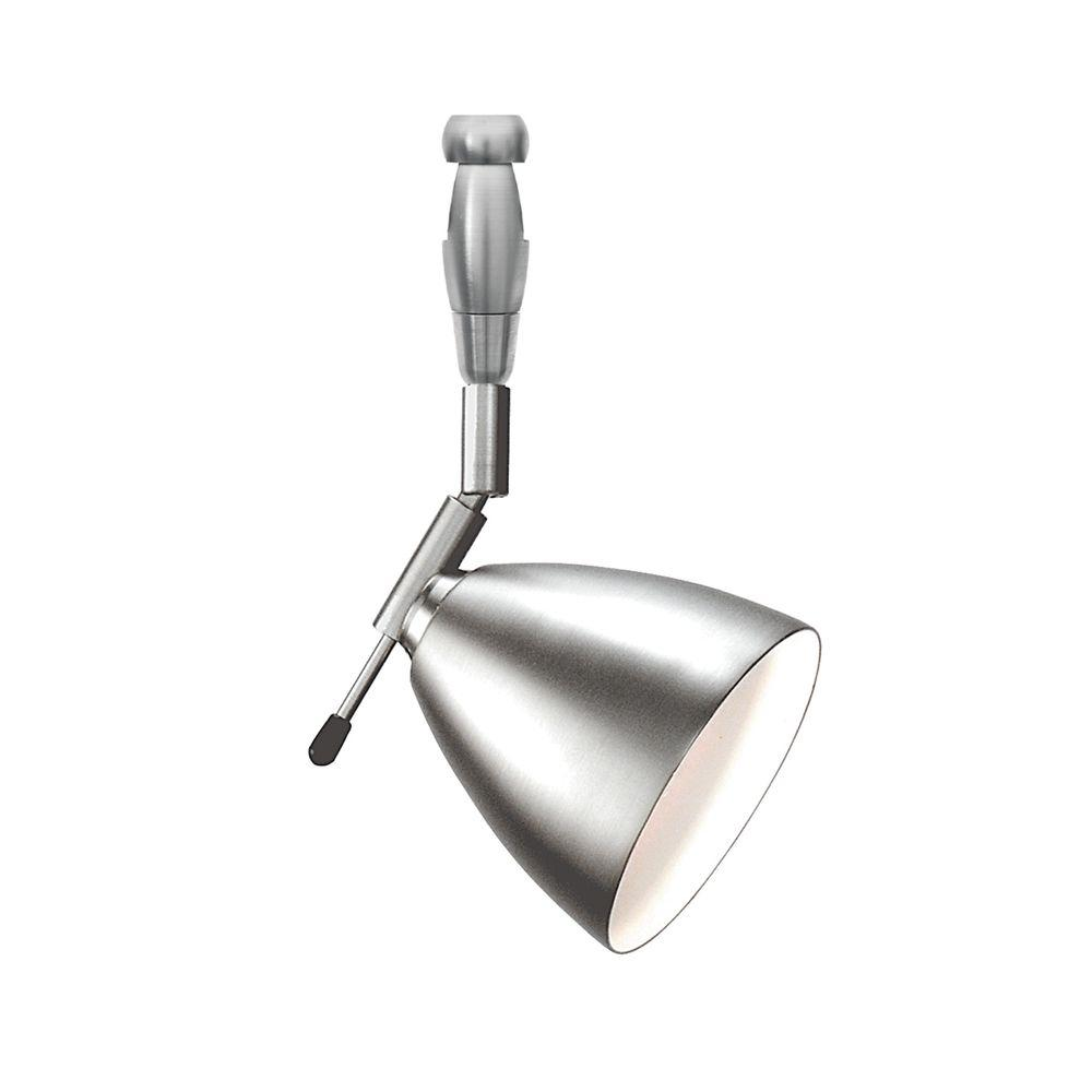 LBL Lighting Orbit Swivel I 1-Light Satin Nickel LED Track Lighting Head Orbit Swivel I 1-Light Satin Nickel LED Track Lighting Head easily blends with your home's existing decor. This is a low voltage head. This satin nickel finished steel fixture combines function and style.