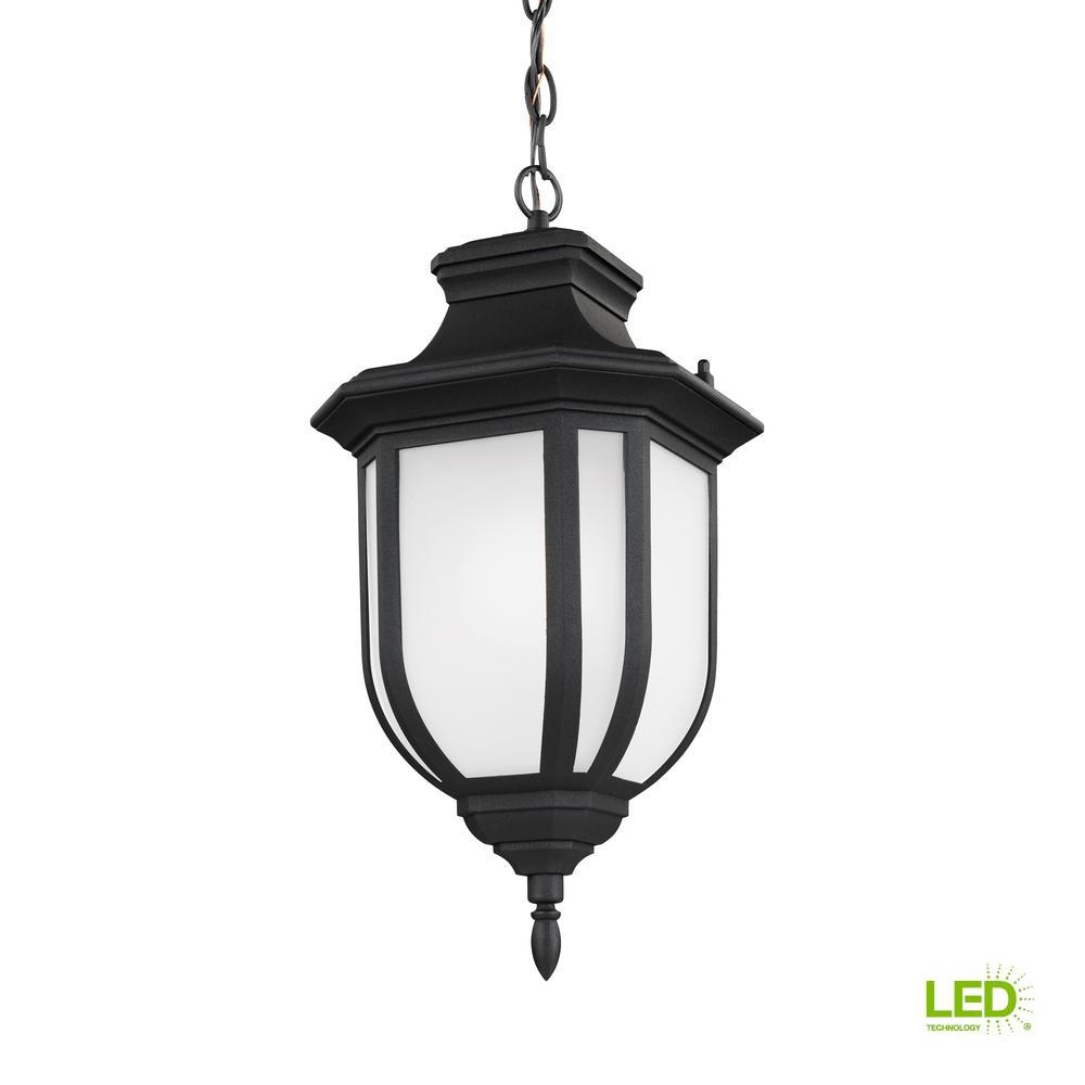 Childress Black 1-Light Outdoor Hanging Pendant with LED Bulb