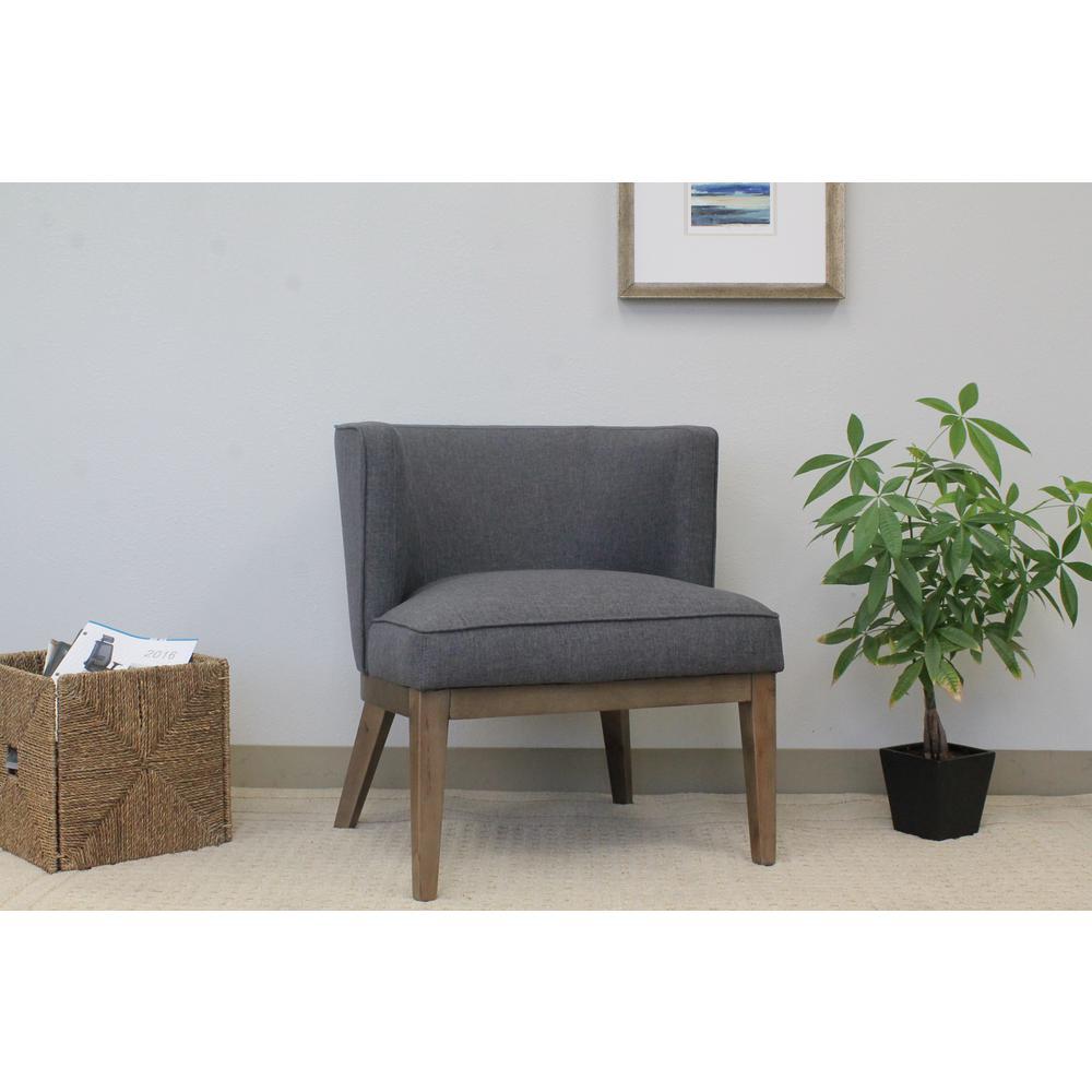 boss slate grey ava accent chair