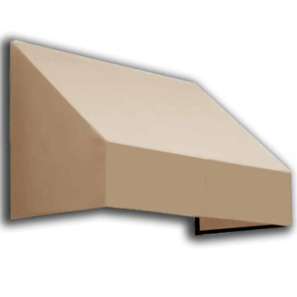 AWNTECH 5 ft. New Yorker Window/Entry Awning (56 in. H x 36 in. D) in Tan