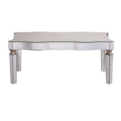 Carlyn Silver Antique Mirrored Cocktail Table