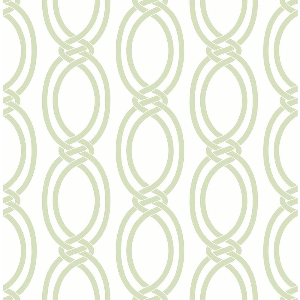 Infinity Light Green Geometric Stripe Wallpaper Sample