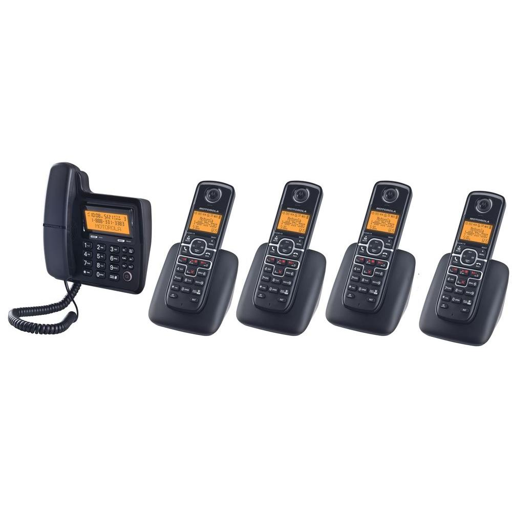 Motorola DECT 6.0 Corded and Cordless Phone with 1 Corded Handset and 4 Cordless Handsets-DISCONTINUED