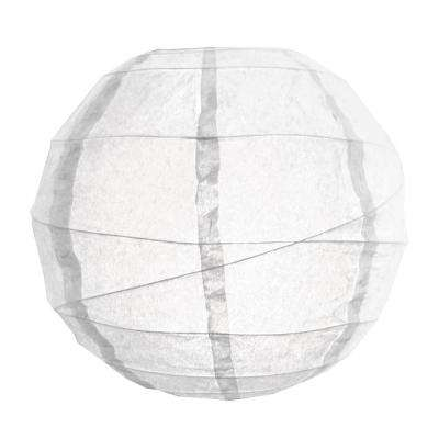 CrissCross 12 in. x 12 in. White Round Paper Lantern (5-Pack)