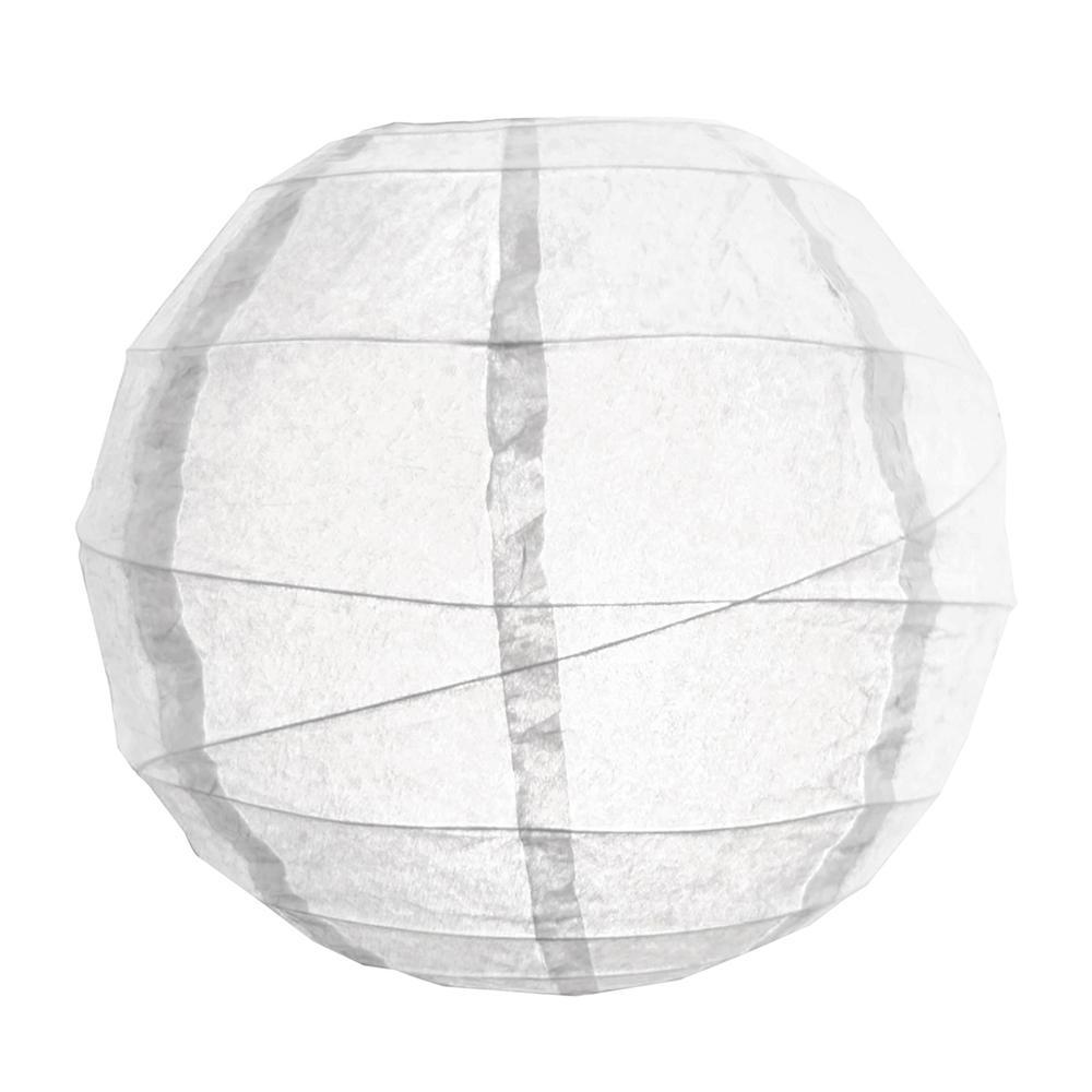 CrissCross 12 in. x 12 in. White Round Paper Lantern (5-Pack)