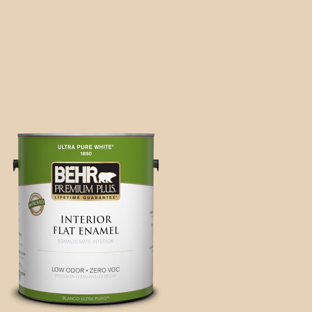 BEHR Premium Plus 1-gal. #T11-18 Aebleskiver Flat Enamel Interior Paint-DISCONTINUED