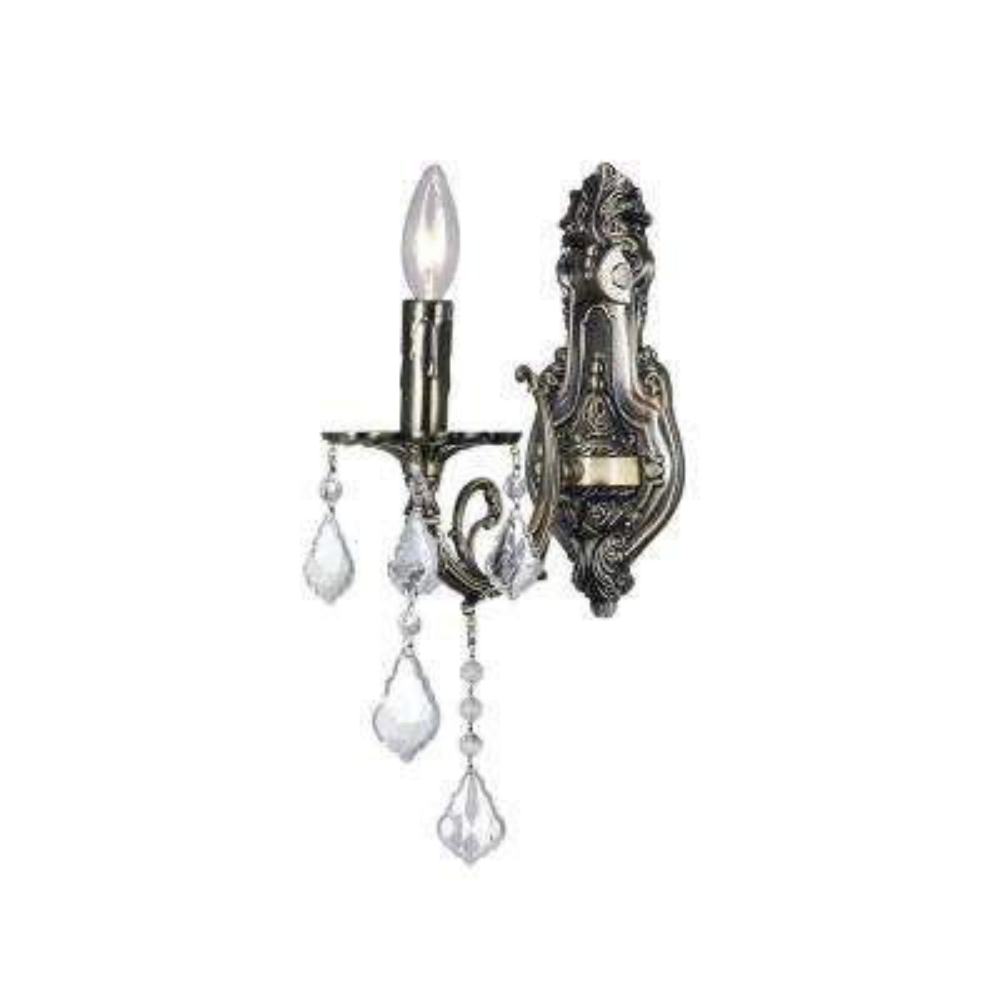 Brass 1-Light Antique Brass Sconce