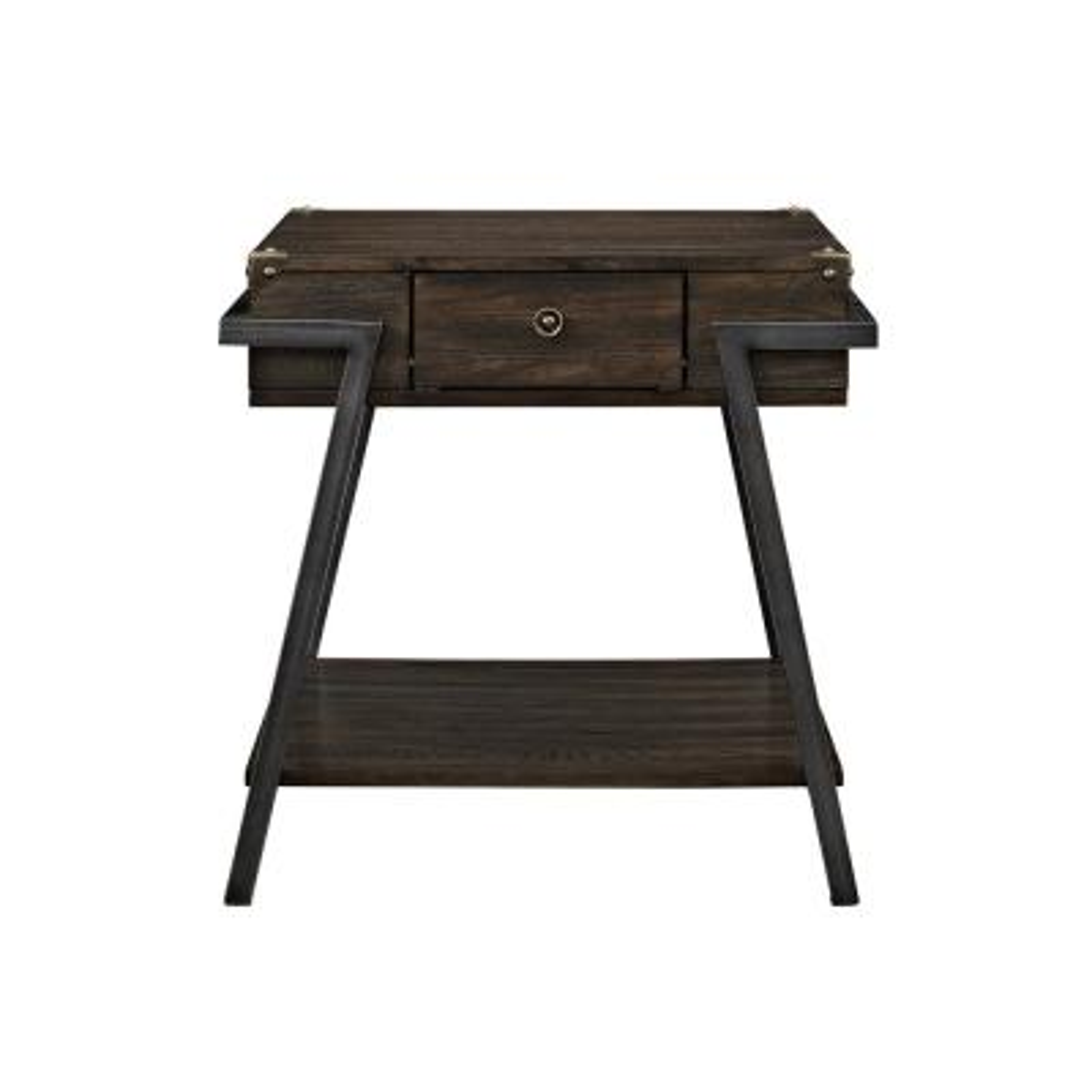 Macall Dark Oak Storage End Table