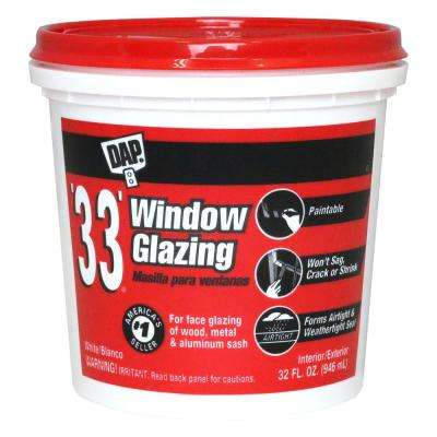 33 1 qt. White Window Glazing