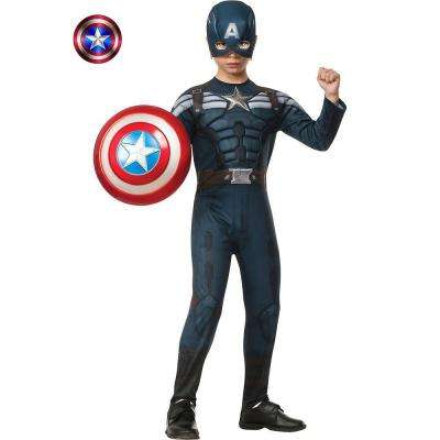 Boys Deluxe Captain America 2 Stealth Muscle Costume