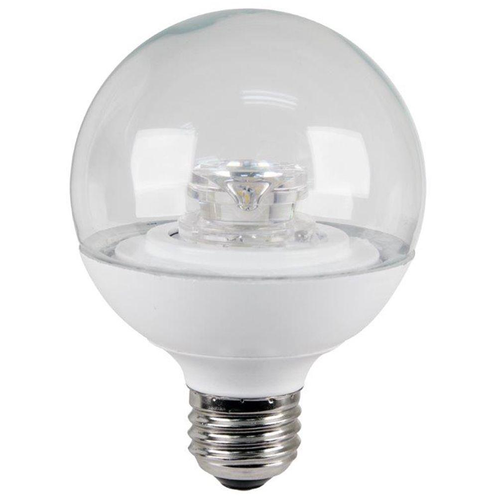 60W Equivalent Warm White (3000K) G25 Dimmable Clear LED Light Bulb