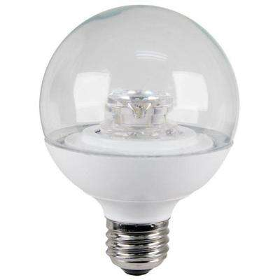 60W Equivalent Warm White (3000K) G25 Dimmable Clear LED Light Bulb (4-Pack)