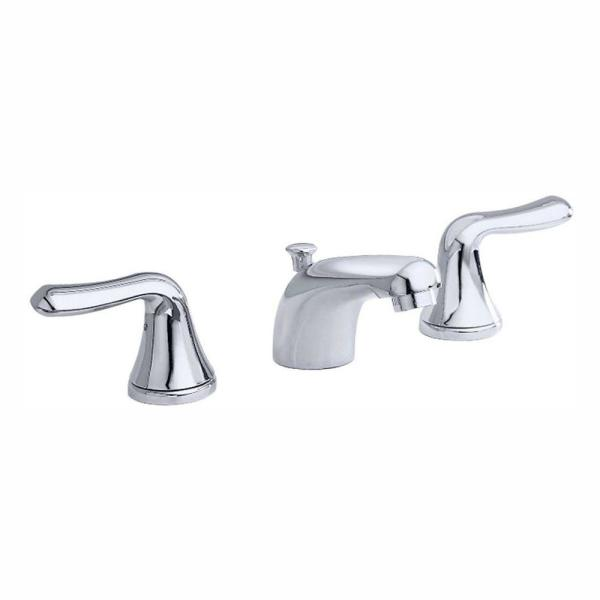 Colony Soft 8 in. Widespread 2-Handle Low-Arc Bathroom Faucet in Polished Chrome with Speed Connect Drain