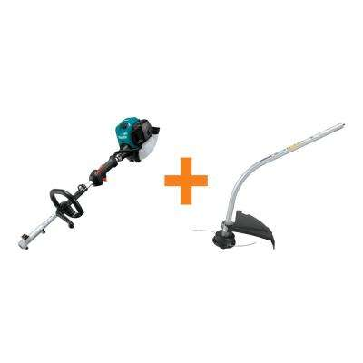 25.4 cc MM4 4-Stroke Couple Shaft Power Head and Curved String Trimmer Couple Shaft Attachment