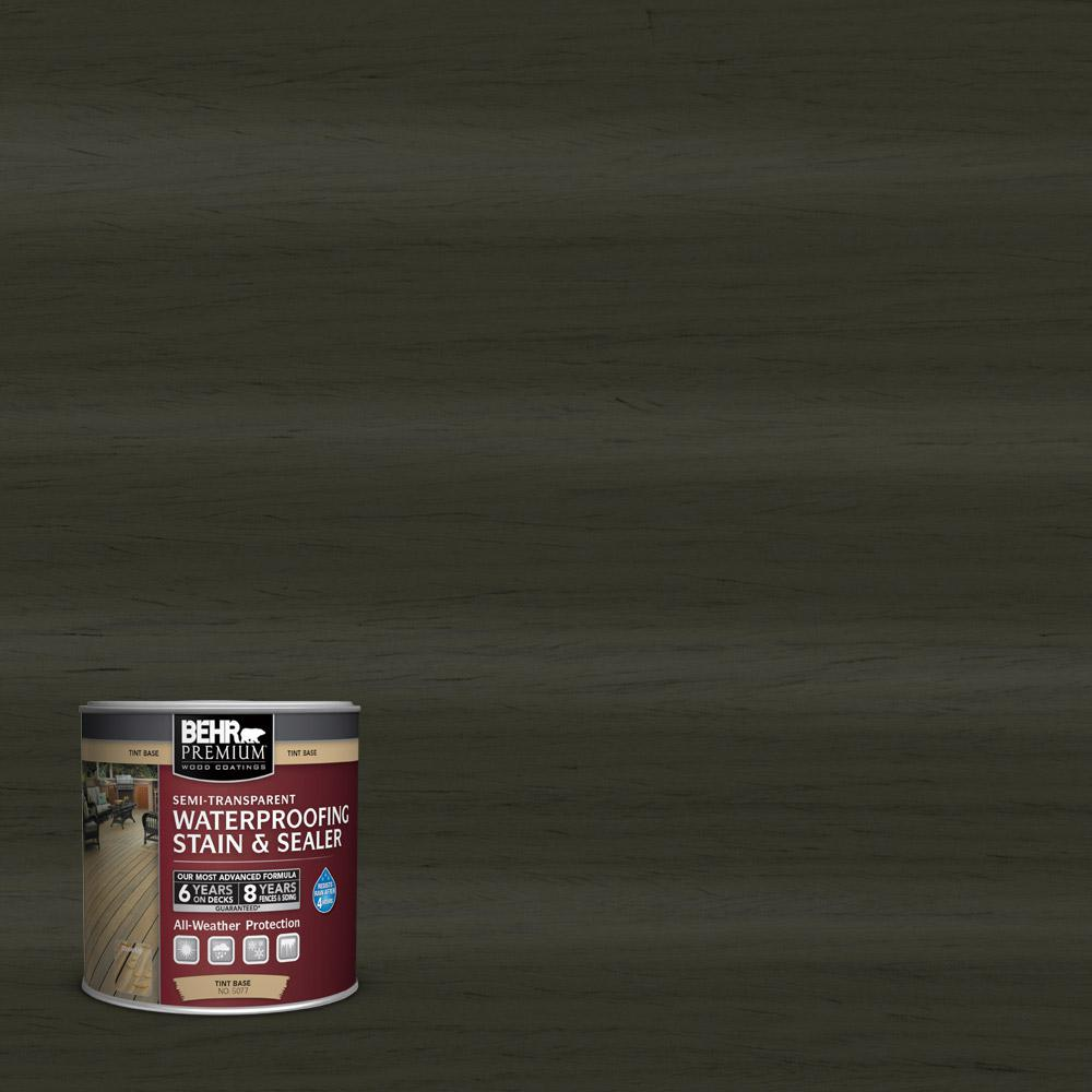 BEHR Premium 8 oz. #ST-108 Forest Semi-Transparent Waterproofing Stain and Sealer Sample