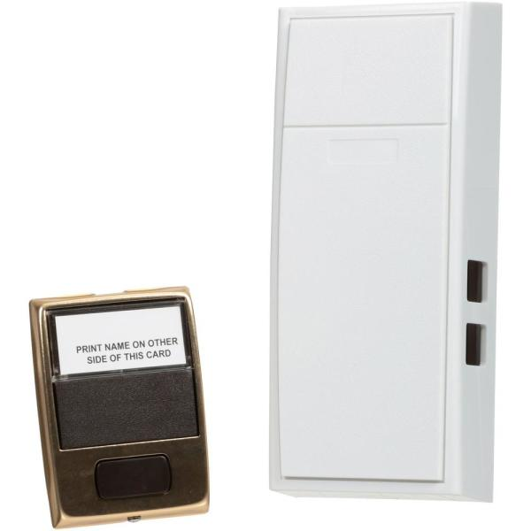 2-Note Mechanical Wireless Doorbell Chime and Doorbell Push Button